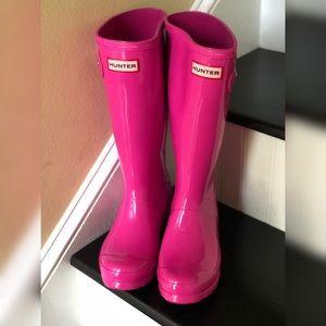 Pink Hunter Big Girls Rainboots